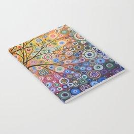 Abstract Art Landscape Original Painting ... Magic Garden Notebook
