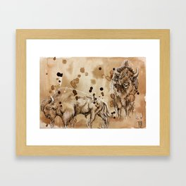"""""""What did the buffalo say to his son as he left for college"""" Framed Art Print"""