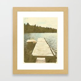 Lily Bay Dock Framed Art Print