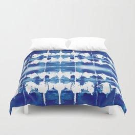 Shibori Tie Dye Indigo Blue Duvet Cover
