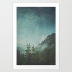 Misty Wilderness - Italian Alps Art Print