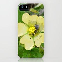 Tiny Flower, Tiny Bug iPhone Case