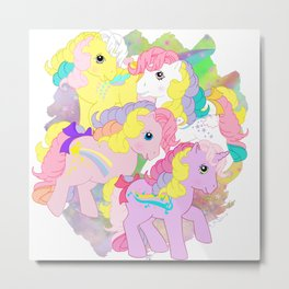 g1 my little pony rainbow curl ponies Metal Print
