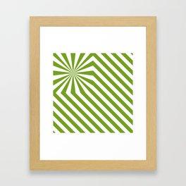 Stripes explosion - Green Framed Art Print
