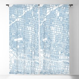 Street MAP Philadelphia // Blue Blackout Curtain