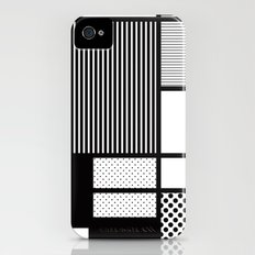 Composition With Black, Dots, Stripes & Black iPhone (4, 4s) Slim Case