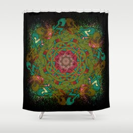 Nebular Grove Shower Curtain