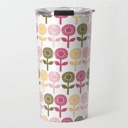Lino cut flower Travel Mug