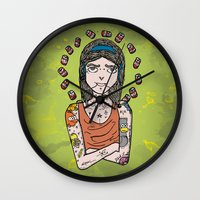 simpson Wall Clocks featuring Saint Simpson by A+A Noisome Art