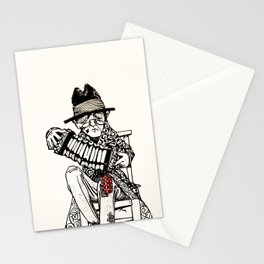 Vintage Concert Party with Dog and Crow Stationery Cards