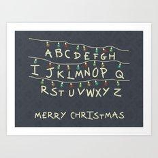 Stranger Christmas Art Print