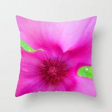 Shocking Pink Flower Throw Pillow