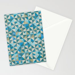 Blue Patchwork Quilt Stationery Cards