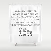 family Shower Curtains featuring Family by Frankie Cat