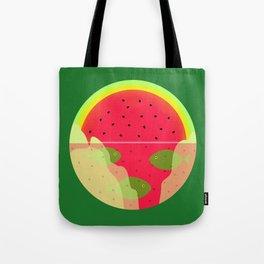 Watermelon Underwater Scene Tote Bag
