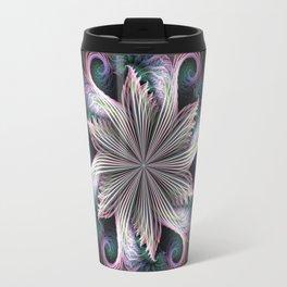 Pink Cloud Pinwheel fractal Travel Mug