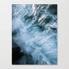 Wave in Ireland during sunset - Oceanscape Canvas Print