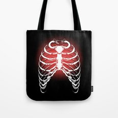 Red Ribs Tote Bag