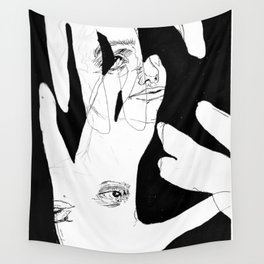 """ HAND OUTLINE"" Wall Tapestry"
