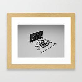 band camera Framed Art Print