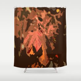 Abstract Fall Leaves Shower Curtain