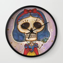 Blanca Nieves Day of the Dead Wall Clock