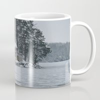 cabin Mugs featuring Red Cabin by Accessorius