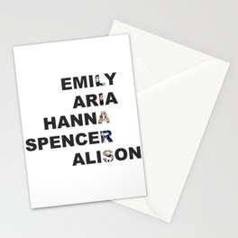Pretty Little Liars - Girls Name Acrostic Stationery Cards