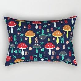 Multicolored mushrooms Rectangular Pillow