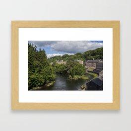 New Lanark, Scotland Framed Art Print
