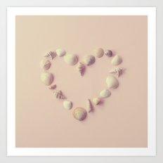 Seashell Heart Art Print