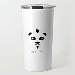 Panda + Adulting Travel Mug