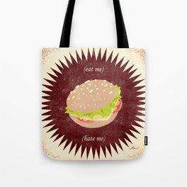 (eat me) BURGER (hate me) Tote Bag