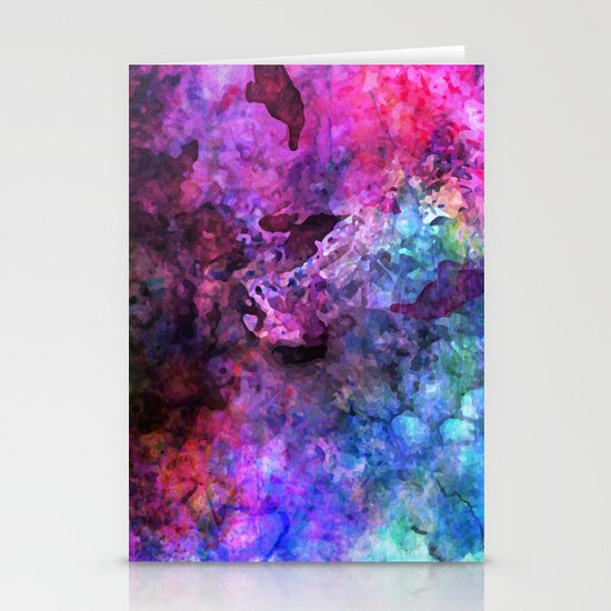 Purple Watercolor Stationery Cards