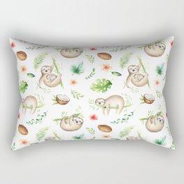 Tropical Sloths Pattern Rectangular Pillow