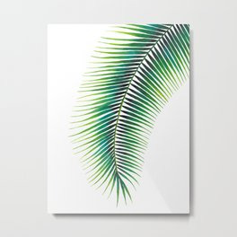 Tropical Palm Leaf #2 | Watercolor Painting Metal Print