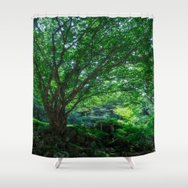 The Greenest Tree Shower Curtain