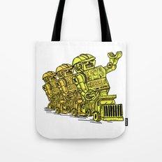 Robot Riding Tote Bag