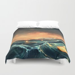 Refugees in a nutshell Duvet Cover