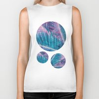palm Biker Tanks featuring Palm #1 by cafelab