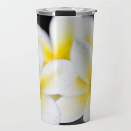 Plumeria obtusa Singapore White Travel Mug