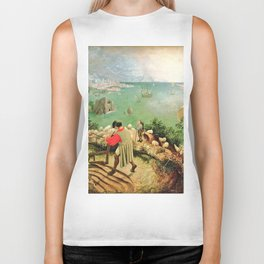 Landscape With The Fall Of Icarus Painting Pieter Bruegel The Elder Biker Tank