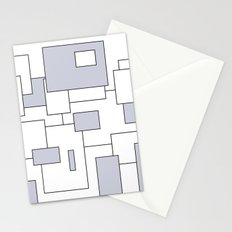 Squares - gray and white. Stationery Cards