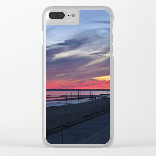 Magic Summer Sunset on the West Coast of DENMARK Clear iPhone Case