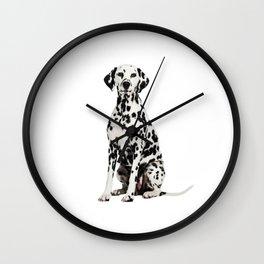 Cute Dalmatian 7 Wall Clock