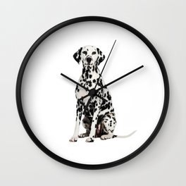 Cute Dalmatian 7 Wall Clock