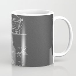 Rocking Oscillating Bathtub Patent Engineering Drawing Coffee Mug
