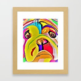 Bulldog Close-up Framed Art Print