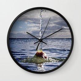 Water Sculpture 3 Wall Clock