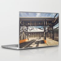 pocket fuel Laptop & iPad Skins featuring Fuel Station by Dave Rasura